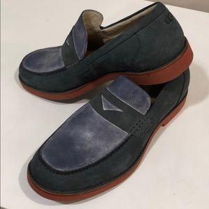 😎New Ugg Men's Blue Penny loafer Suede size 11
